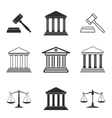 Court icon set vector image