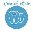 dental logo with smiling teeth vector image vector image