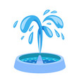 design fountain and water sign vector image