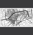 elche spain city map in retro style outline map vector image vector image