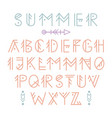 ethnic aztec font vector image