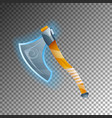 fantasy warrior axe isolated game element vector image vector image