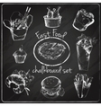 Fast food icon chalkboard vector image