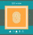 fingerprint scanned finger icon vector image vector image