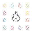 fire flat icons set vector image vector image