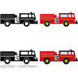 firetruck icon set vector image vector image