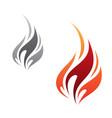 flame icon minimalist vector image vector image