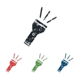 Flashlight grunge icon set vector image vector image