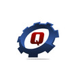 gear logo letter q vector image vector image
