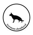 German shepherd icon vector image vector image