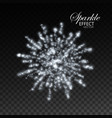 glowing explode sparkling particles and stras vector image