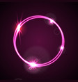 glowing purple neon ring shiny template vector image