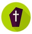 Gravestone Circle Icon vector image