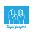 Hand sign design vector image vector image