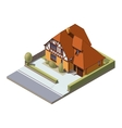 isometric suburban building vector image vector image