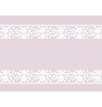 Lace border on pink vector image vector image