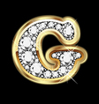 letter g gold and diamond vector image vector image