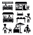 market and shopping vector image vector image