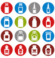 Medical bottles icon set vector image vector image