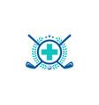 medical golf logo icon design vector image