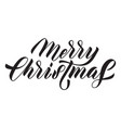 merry christmas hand drawn calligraphy lettering vector image