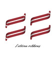 modern colored latvian ribbons mae in latvia vector image vector image