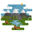 Mountain Lake Camp Ecological Landscape vector image vector image
