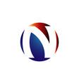 n initial letter n logo design on stylish vector image vector image