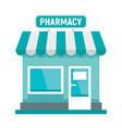 pharmacy city building vector image