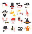 Photo Booth Party Set vector image vector image