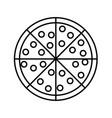 pizza icon image vector image