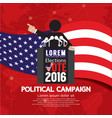 Political Campaign Banner vector image vector image