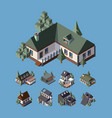 Private houses cottage isometric