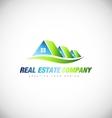 Real estate house logo icon design vector image vector image