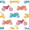 Retro motorcycle seamless pattern