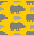 rhinoceros seamless pattern wild beast herd vector image