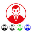 sad rounded gentleman icon vector image vector image