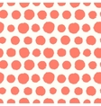 Seamless pattern with painted polka dot texture vector image vector image