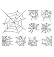 spider web thin line icon set editable stroke vector image vector image