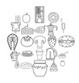 supply icons set outline style vector image vector image
