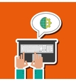 technology design laptop media icon vector image vector image