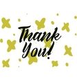 Thank you inscription Greeting card with vector image vector image