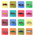transport flat icons 60 vector image vector image