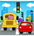 transport traffic in city vector image vector image