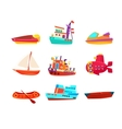 Water Transport Toy Boats Icon Collection vector image