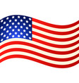 wave american flag for independence day eps vector image