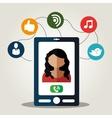 Woman avatar and social media design vector image vector image