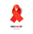 world aids awareness day symbol realistic vector image