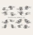 engraving ribbon set vector image