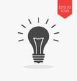 Lightbulb icon Flat design gray color symbol vector image